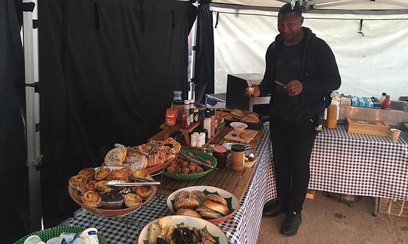 TV and Film crew enjoying Fayre Do's catering on location.