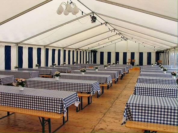 Laying the tables at Fayre Do's catering