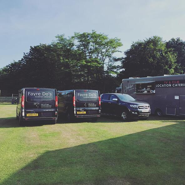 Fayre Do's catering and transport setting up on location.