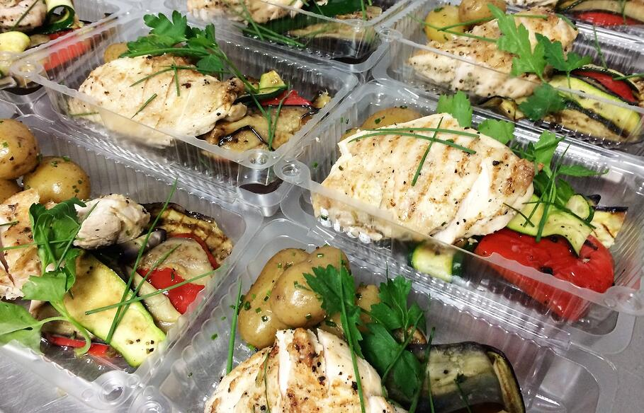 Food decanted into takeaway portions for Fayres Do's open fridge scheme