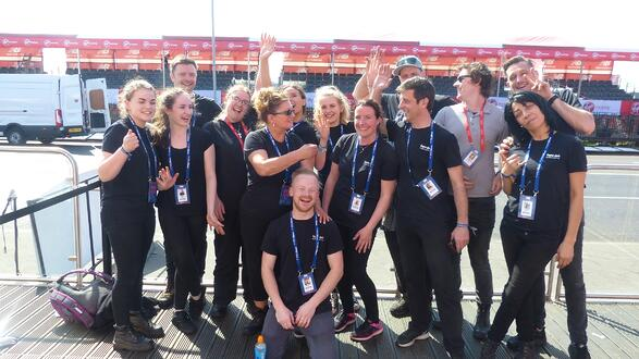 a team photo of Fayre Do's after the London marathon